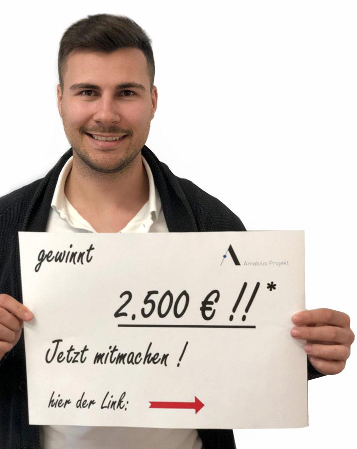 Amabilis Gewinnspiel Gutschein gewinnen 2500 EUR
