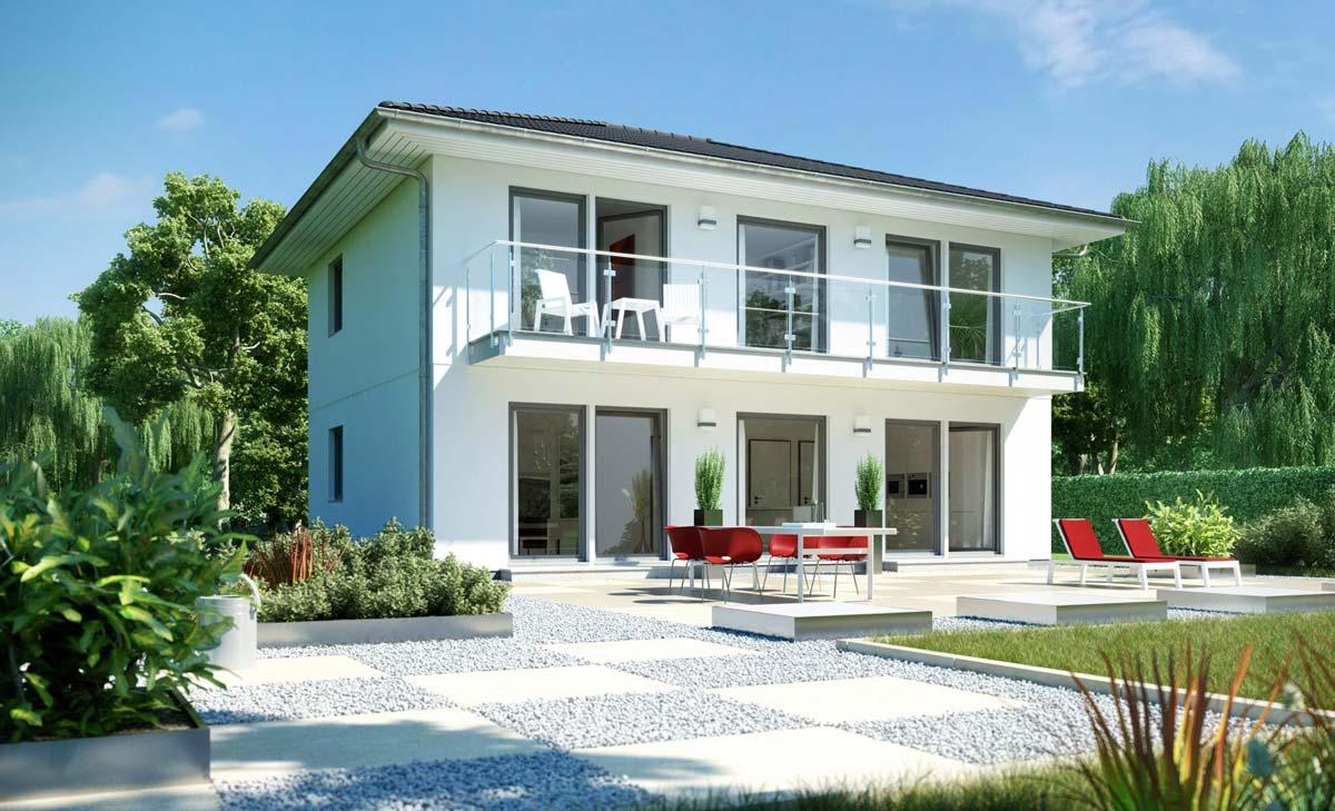 Schwörerhaus Stadtvilla mit-grossem Balkon schlüsselfertig
